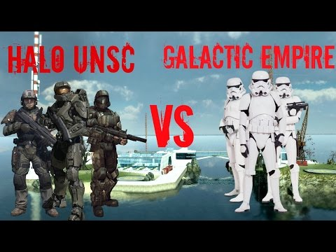 Garry's Mod NPC Wars: Halo UNSC vs Star Wars The Galactic Empire