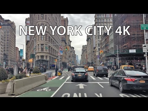 Driving Downtown - New York City 4K - USA