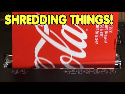 Shredding packaging in a paper shredder 2