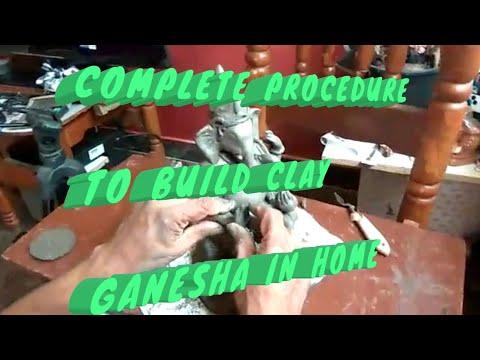 How to Make clay Ganesha at home
