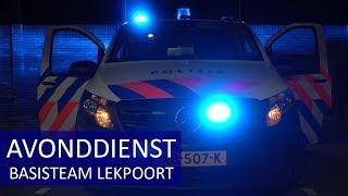 POLITIE AVONDDIENST - TEAM Lekpoort - Verdachte met een mes aangehouden