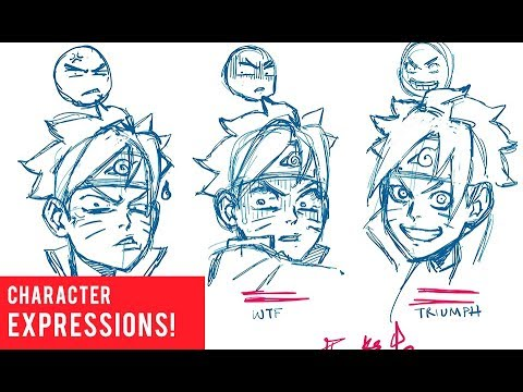 How to Draw Character Expressions: Irritated, Triumph, WTF
