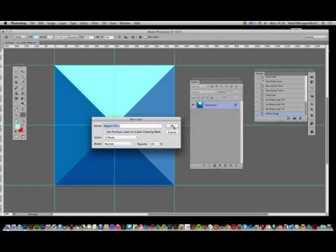 How to create a pyramid pattern in Photoshop tutorial