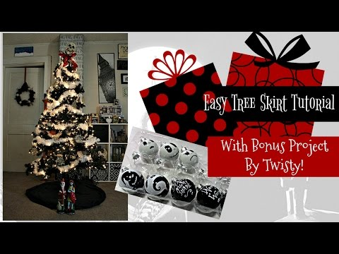 How To Make A Tree Skirt (Easy)