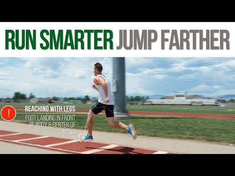 Long Jump Sprinting Technique to Maximize Distance