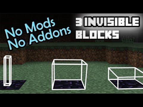 3 INVISIBLE BLOCKS in your Minecraft PE
