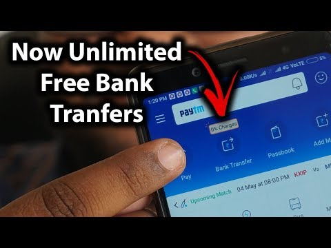 How to do Bank to Bank Transfer at 0% charge using Paytm App