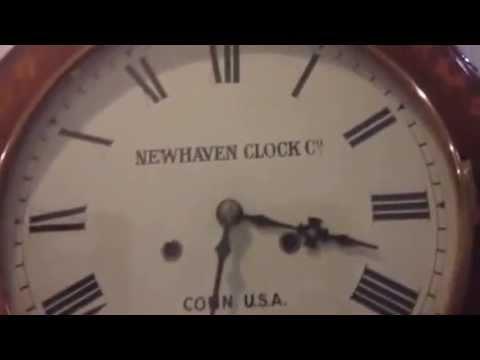 Antique New Haven American Drop Dial Clock