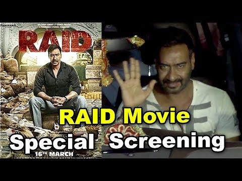 RAID Movie GRAND Special  Screening   Ajay Devgn, Kajol, Ileana D'Cruz की GRAND ENTRY