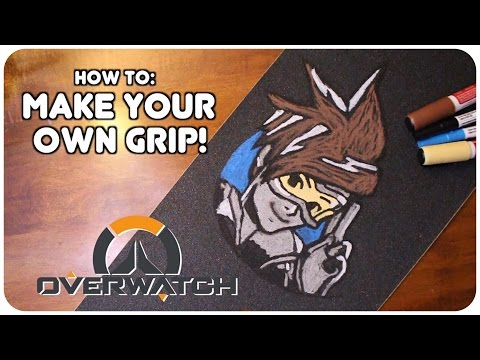 How To Create Custom Skateboard Griptape!