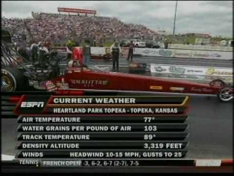 Larry Dixon David Grubnic Top Fuel Dragster O'Reilly Summer Nationals Topeka Kansas 2010.mpg