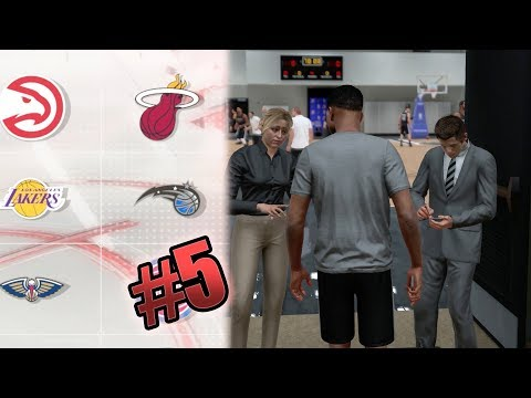 NBA 2k18 MyCAREER - BEST 6'4 ShotMAKER Build Creation! New Team NBA Tryouts (Career Restart)Ep. 5