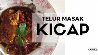 Simple  Easy Resipi Telur Masak Kicap  Fried Eggs With Soy Sauce