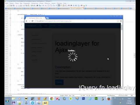 jQuery.fn.loadinglayer plugin. The loader  auto  size.