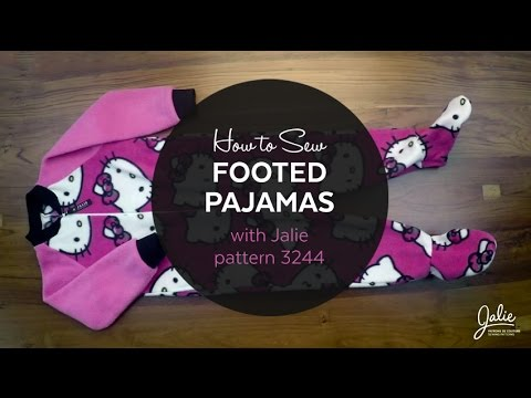 DIY Onesie // How to Make Footed Pajamas