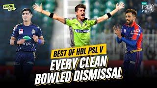 BEST OF HBL PSL V - EVERY CLEAN BOWLED DISMISSAL