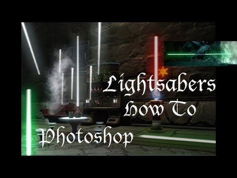 How To Create Lightsabers In Adobe Photoshop (Full Tutorial for Lightsaber Effect)