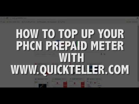 How to top up your PHCN prepaid meter online with Quickteller