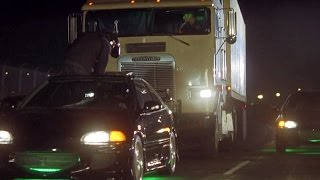 FAST and FURIOUS - Opening Scene Car Chase (Civic vs Semi Truck) #1080HD