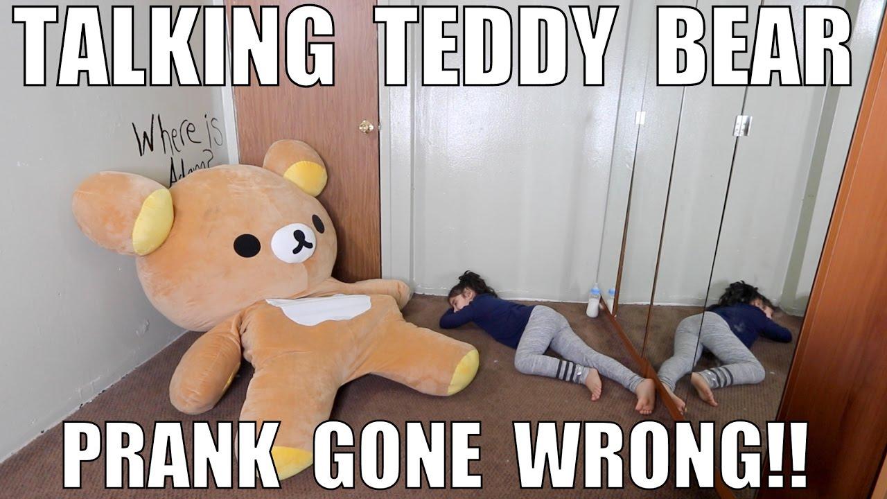 TALKING TEDDY BEAR PRANK GONE WRONG!!