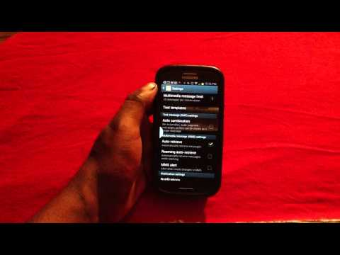 How to Change MMS Settings on Samsung Galaxy S3