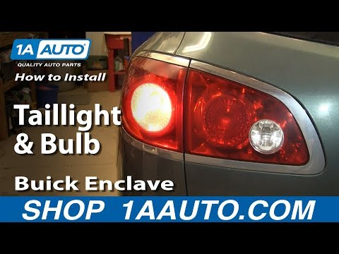 How To Install Replace Change Taillight and Bulb 2008-14 Buick Enclave