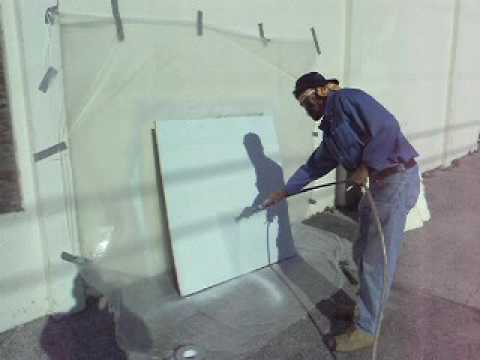 TPR2 Fireshell(R) coating - spray trainee on wallboard