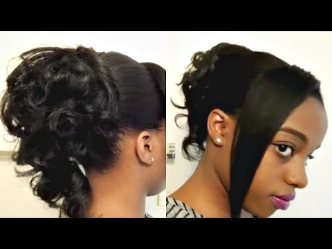 Heatless Curly PonyTail Updo Hairstyle Tutorial (CR)