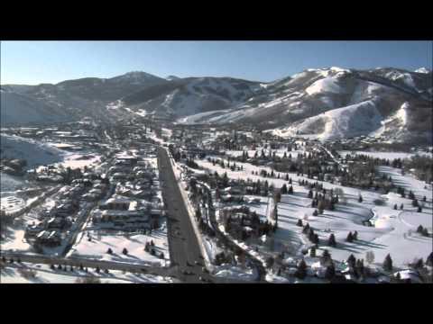 Winter Aerial of Park City, Utah Real Estate