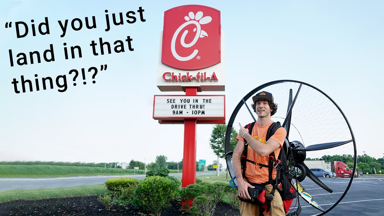 Picking Up Chick-fil-A On My Paramotor!!!