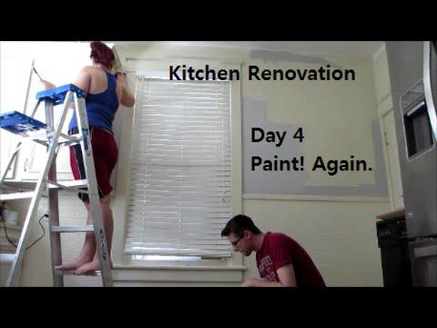 Painting! Again. - Kitchen Reno Day 4   DIY Distress