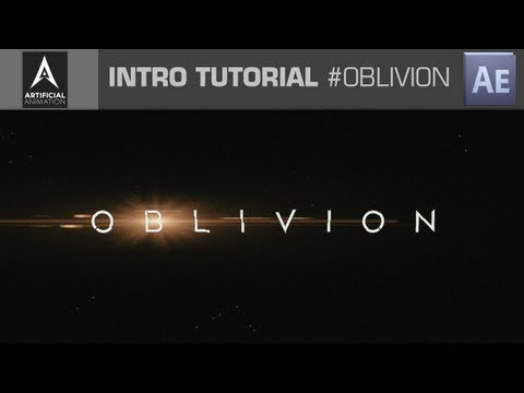 After Effects - OBLIVION Intro Tutorial - Project File Included