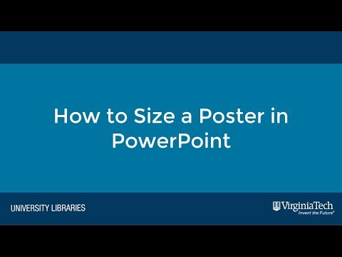 How to Size a Poster in PowerPoint