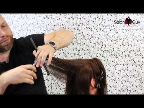 Haircut Tutorial - How to Cut Layers - TheSalonGuy