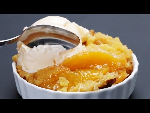 Easy Slow Cooker Peach Cobbler | Tasty Food Buzzfeed Food Recipe How To Make