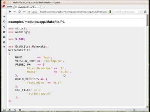 Perl packaging: Makefile.PL of ExtUtils::MakeMaker