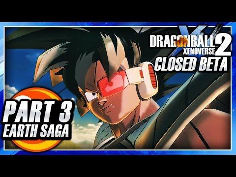 Dragon Ball Xenoverse 2 (PS4): Closed Beta - Part 3 - Patroller Academy & Saiyan Saga Gameplay!