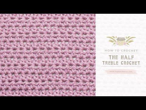 How To: Crochet A Half Treble Crochet (UK Terms)  | Easy Tutorial by Hopeful Honey