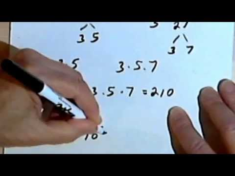 Finding the Least Common Multiple (LCM), part 1 0-6a