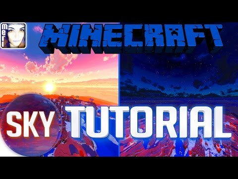 ☿ Minecraft CUSTOM SKY TUTORIAL HOW TO INSTALL Better Skies | Optifine HD Texturepack Resourcepack