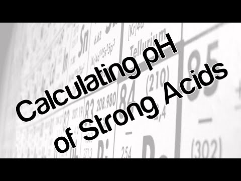 Calculating pH of strong acids