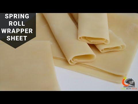 समोसा शीट या स्प्रिंग रोल शीट कैसे बनाएं ?Spring roll sheet recipe|Ramzaan Recipe|Iftaar  Recipe
