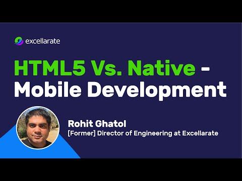 HTML5 Vs. Native - Mobile Development - Synerzip Webinar