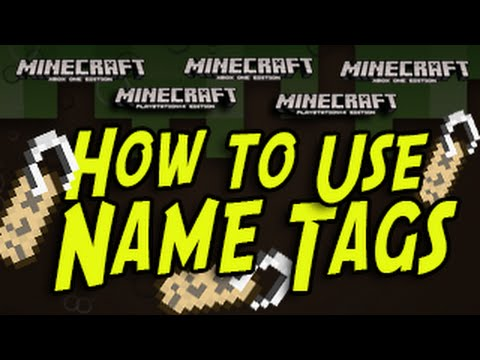 Minecraft (PS3, PS4, Xbox) - NAME TAGS - TUTORIAL - Title Update