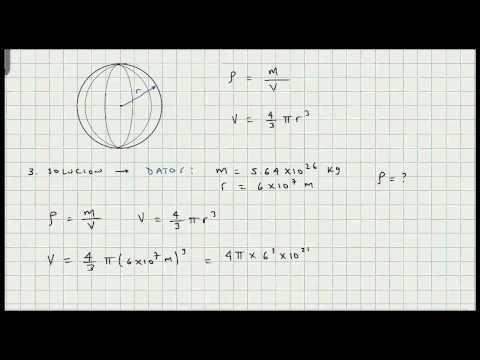 Ejercicios Aplicacion Densidad - Masa - Volumen Esfera - Video 153