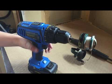 HOW TO MAKE A ELECTRIC FISHING REEL WITH A DRILL!
