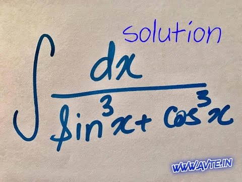 indefinite Integration 5(ii), solution of 1/( sin^3 x + cos^3 x ) ; part 2 of 2