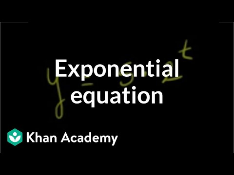 Solving exponential equation | Exponential and logarithmic functions | Algebra II | Khan Academy