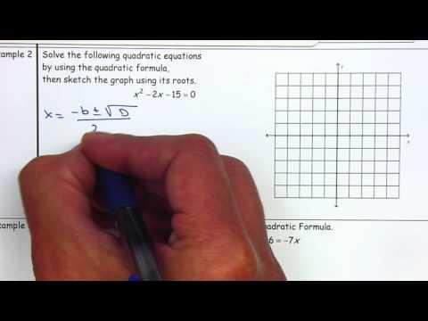 Algebra 2 - 3.6 Quadratic Formula and Discriminant
