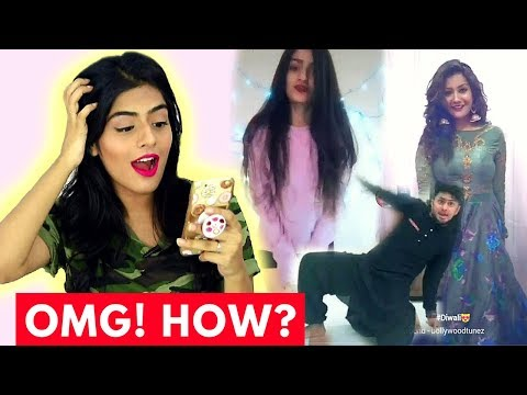 Reacting To Indian Musical.lys #MyDiwaliOutfit   Dhwani Bhatt